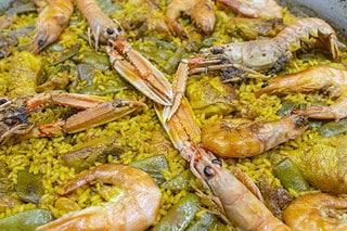 Detalle paella mixta - Restaurante Casa Picanterra