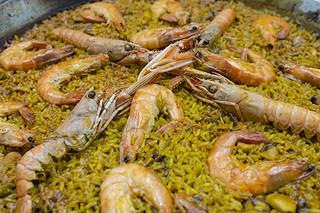 Detalle paella de marisco - Restaurante Casa Picanterra